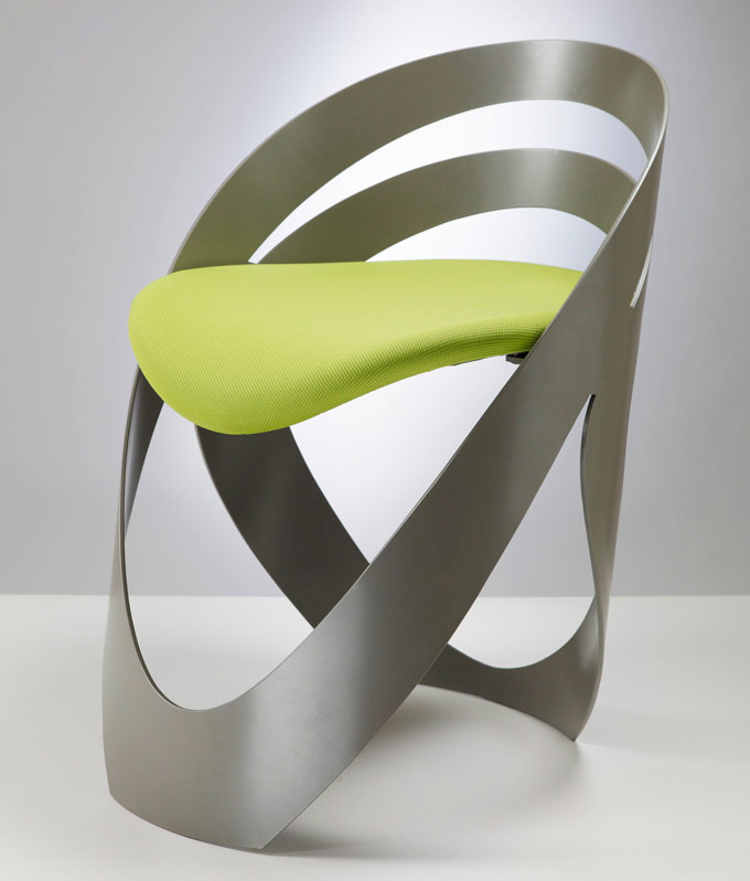 cool modern chair made of aluminum