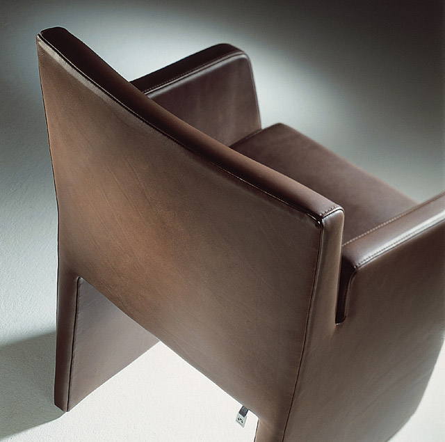 contemporay dining room chair leather