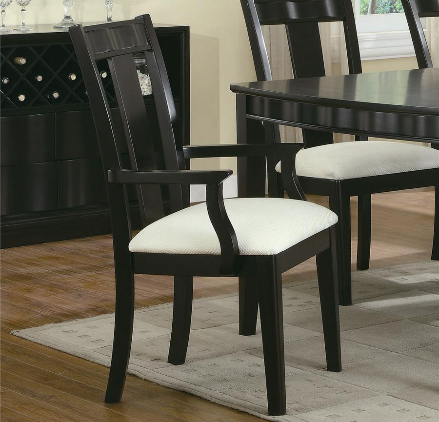 chocolate birch dining room chair with upolstered seat