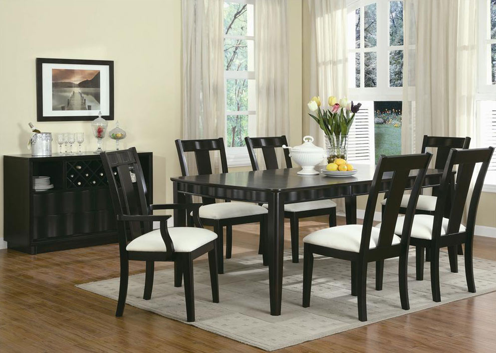 Admirable Casual Dining Wave Dining Room Set By Coaster Refined Decor Download Free Architecture Designs Xoliawazosbritishbridgeorg