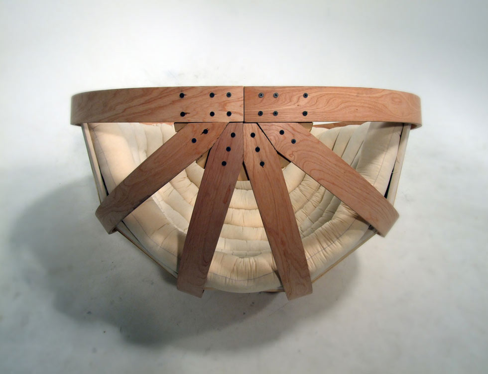 modern wooden rocking chair