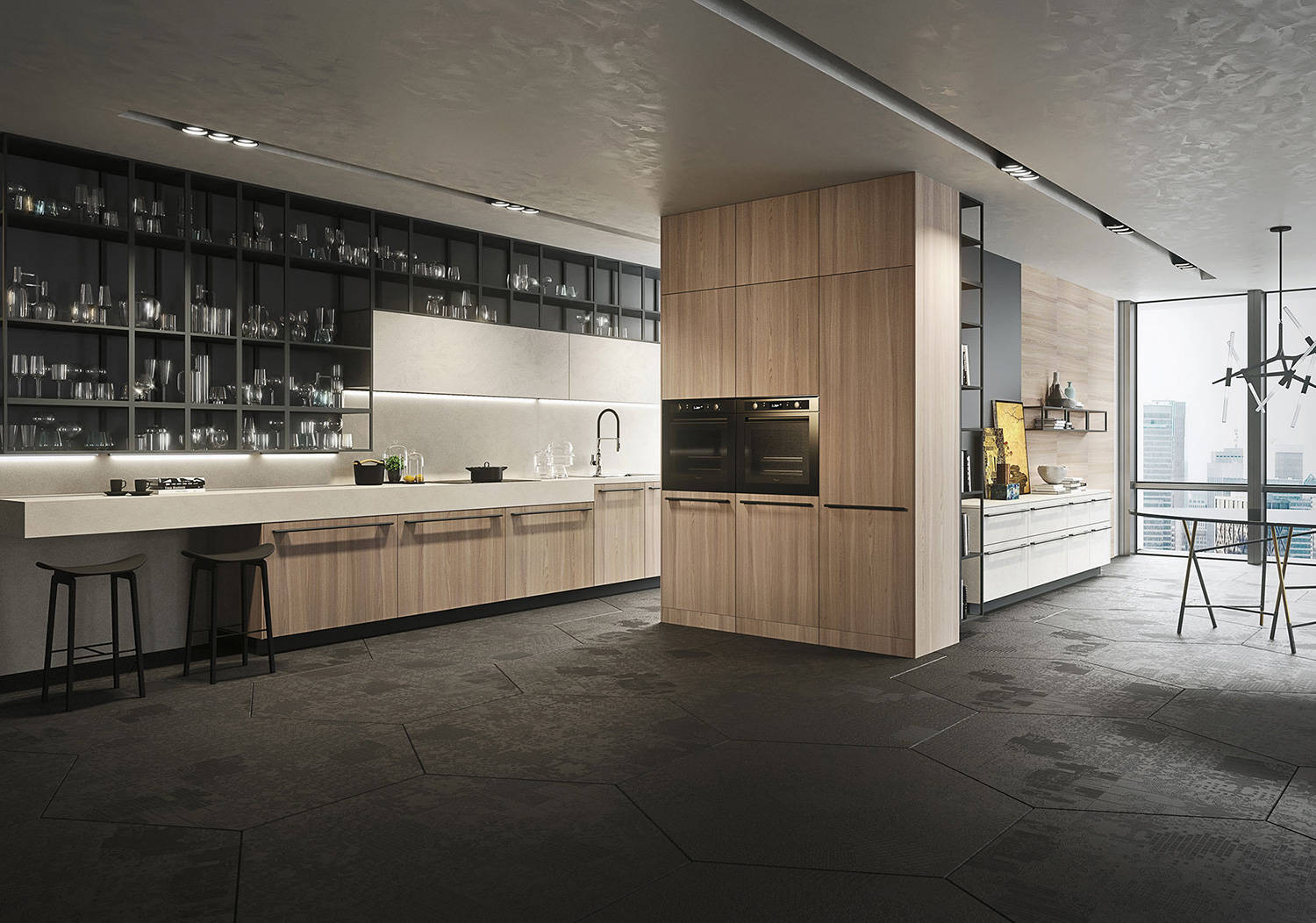 stylish kitchen bar