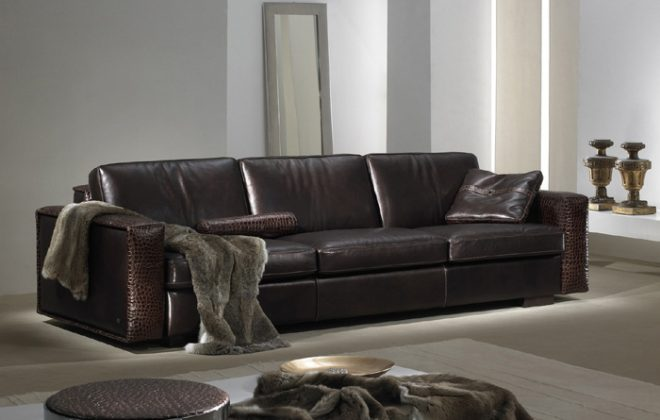 contemporary and modern leather sofa