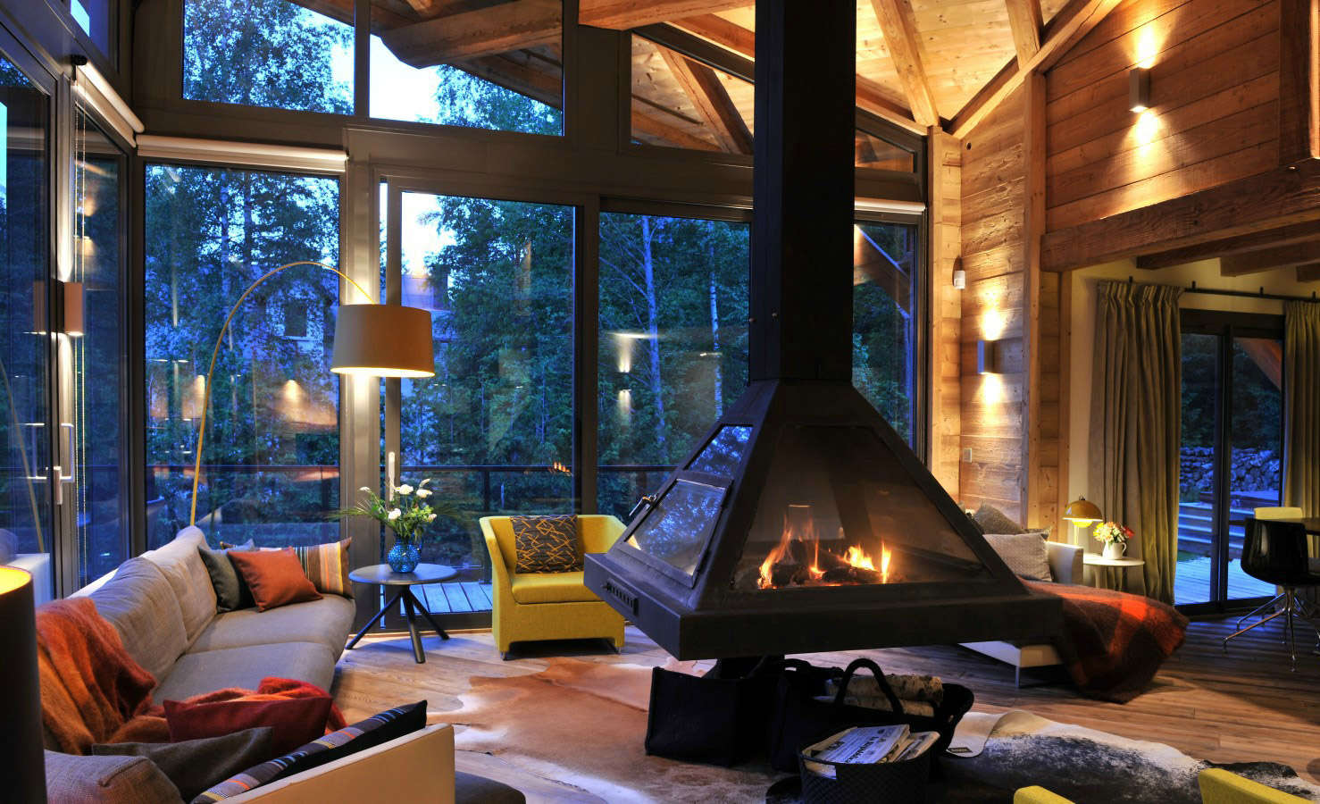 Cozy mood in a luxury cabin