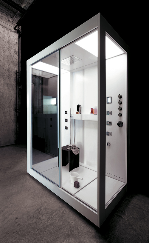 glass bathroom spa
