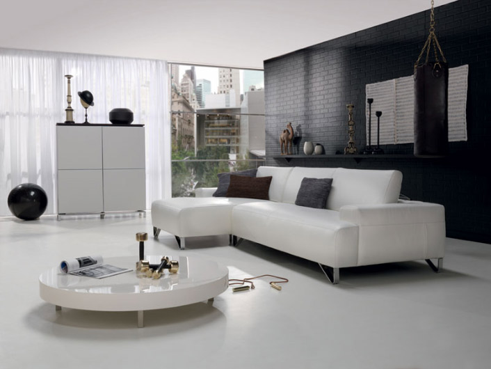 leather sectional sofa and licing room set