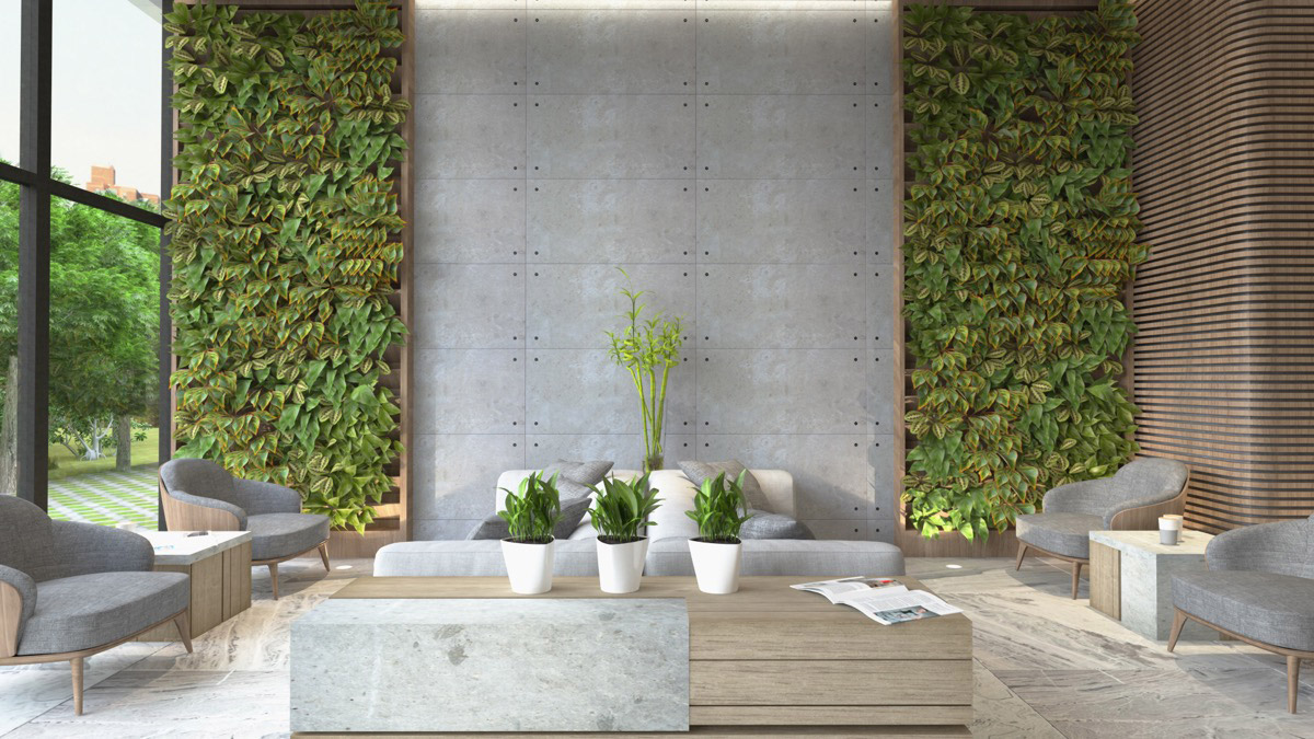 modern open feel design with nature
