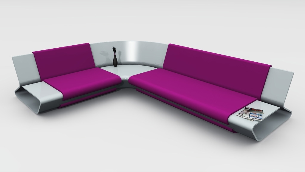 modern sectional sofa futuristic design