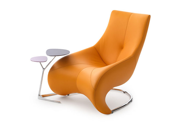 Darius leather lounge chair