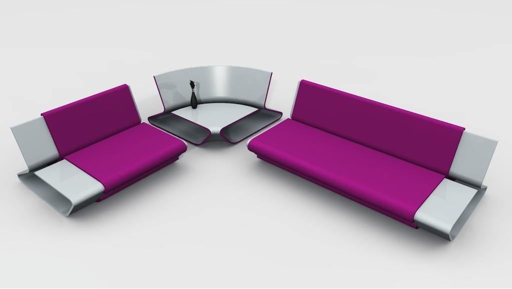modern modular sofa with corner table