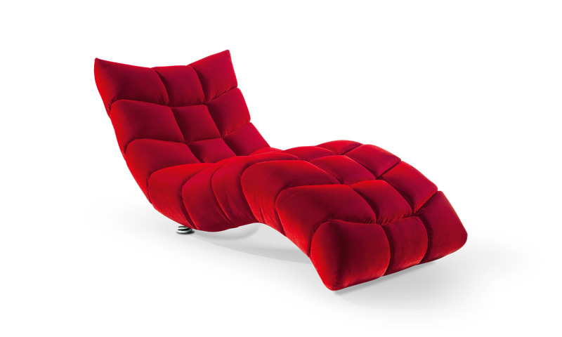 red uplostered chair