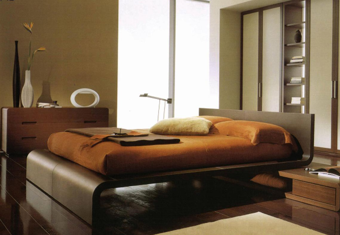 Walnut Bedroom Set Flow Modern Platform Bed
