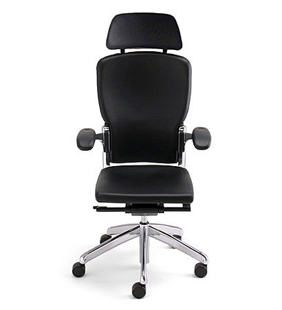 ergonomic leather and mesh swivel office chair