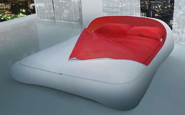 modern soft bed with zipper