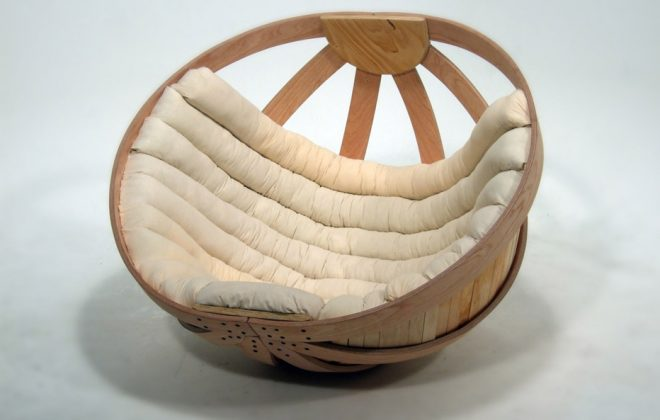 modern rocking chair with cushions