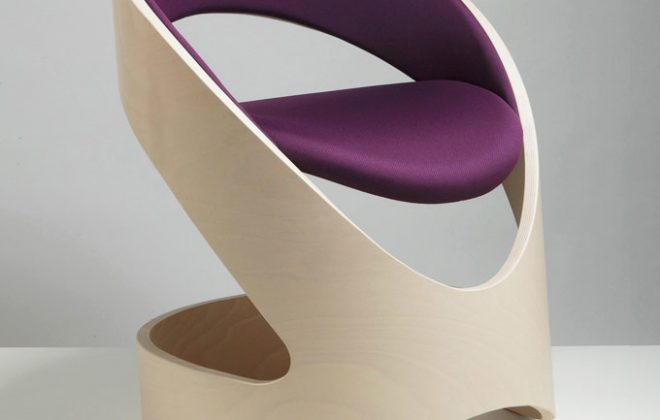 modern chair with natural wood finish