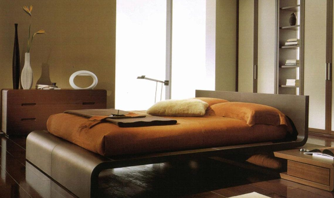 modern beddroom set with clean lines